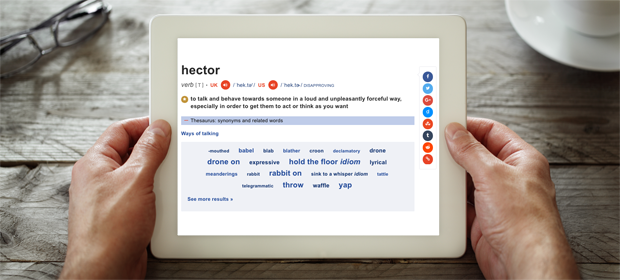 Dictionary definition of a Hector