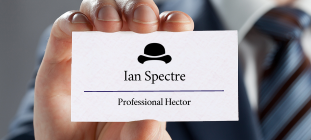 Ian Sprectre's business card