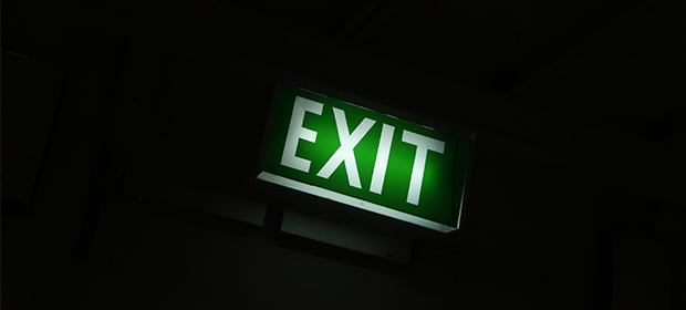 Illuminated exit sign
