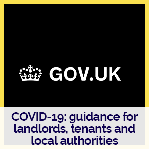 Gov.uk logo with link to landlord support