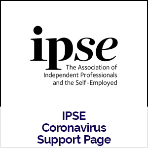 IPSE logo linking to their coronavirus support page