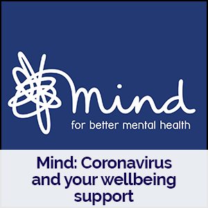 Mind charity logo linking to their coronavirus support page
