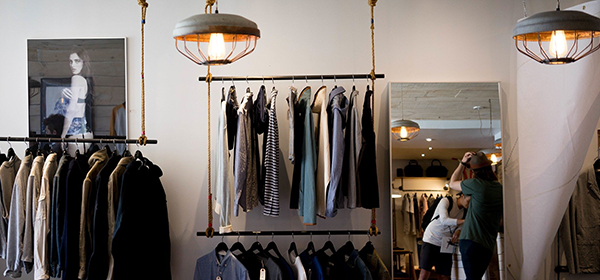 Clothing retail shop open