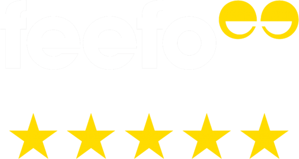 feefo 5 star rating logo